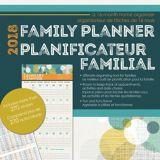 2018 Family Planner Wall Calendar, Bilingual | Dateworksnull