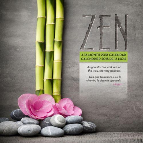 Calendrier mural 2018, thème zen, bilingue Image de l'article