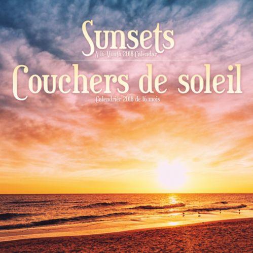 Calendrier mural 2018 Couchers de soleil, bilingue Image de l'article