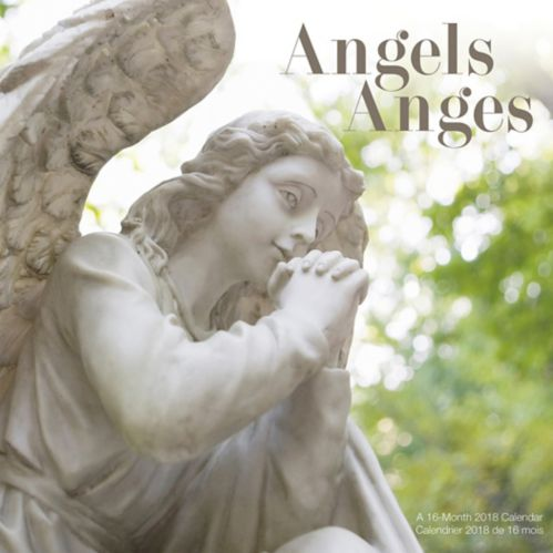 2018 16-Month Angels Wall Calendar, Bilingual Product image