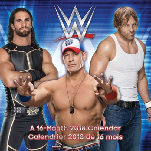 2018 16-Month WWE Wall Calendar, Bilingual