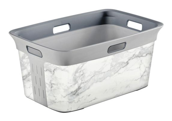 type A Marble Design Laundry Basket