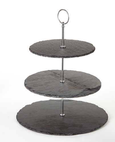 CANVAS 3-Tier Slate Serving Stand