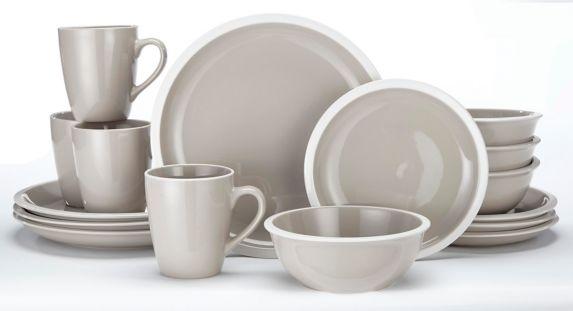 CANVAS Sebastian Stoneware Dinnerware Set, Taupe, 16-pc Product image