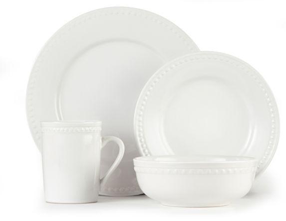 Service de vaisselle en grès CANVAS Skyler, blanc, 16 pces Image de l'article