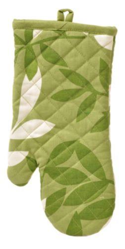 For Living Green Leaves Oven Mitt Set, 2-Pk