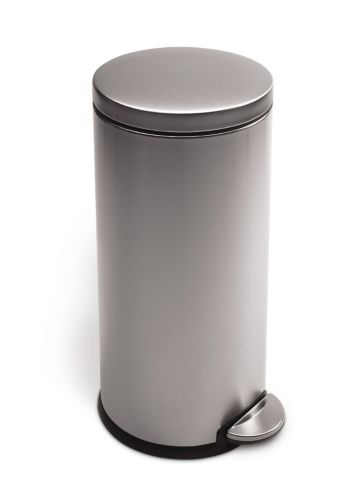 simplehuman Round Step Trash Can, 30-L