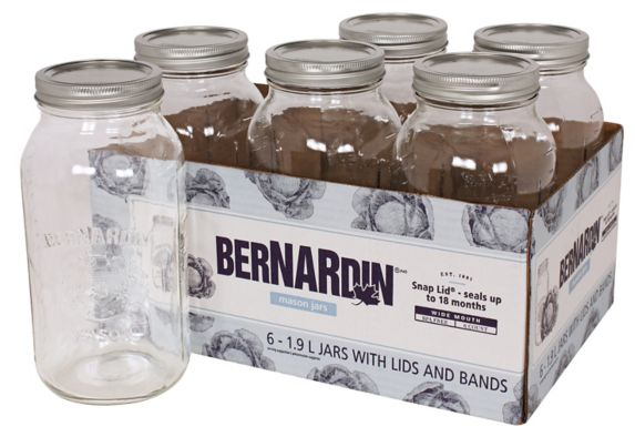 Bernardin Wide Mouth Mason Jars, 1.9-L, 6-pk Product image