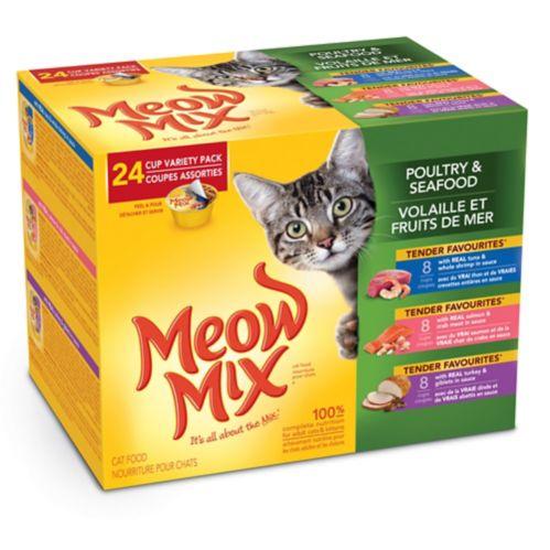 Nourriture humide pour chats Meow Mix Market Select, saveurs variées, paq. 24 Image de l'article