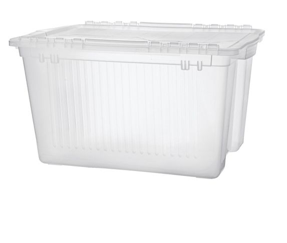 type A Flip-Top Clear Tote, 45-L Product image