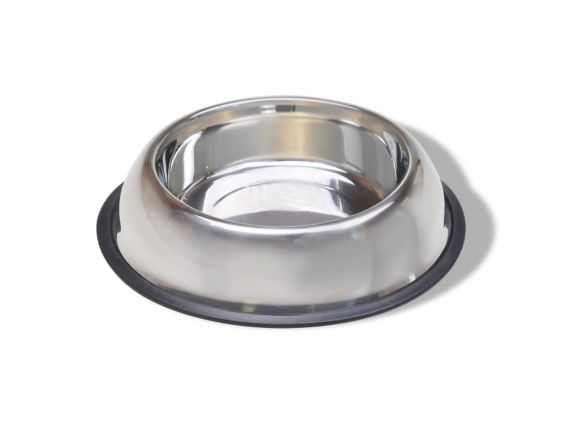 Stainless Steel & Rubber Bowl