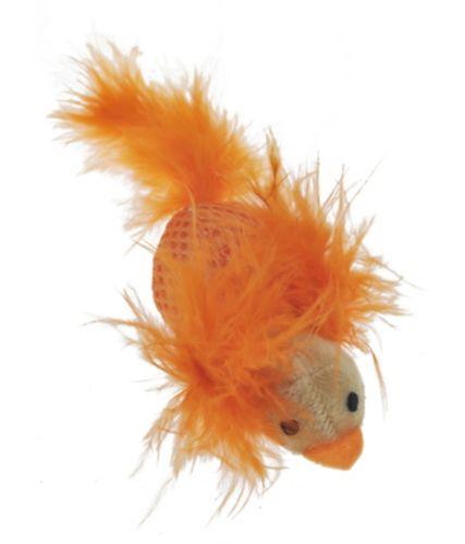PAWS UP! Bright Catnip Feather Bird Cat Toy