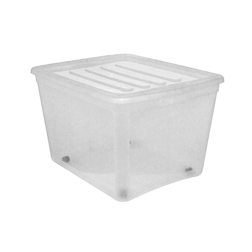 type A Clear Tote with Wheels, 80-L