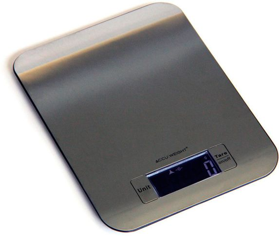 Accuweight Stainless Steel Slim Kitchen Scale, 5kg/11lb Capacity