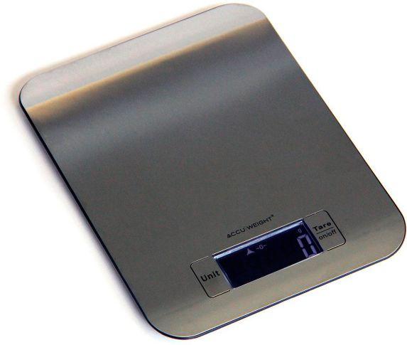 Balance de cuisine mince Accu-Weight en acier inoxydable, capacité de 5kg (11lb) Image de l'article