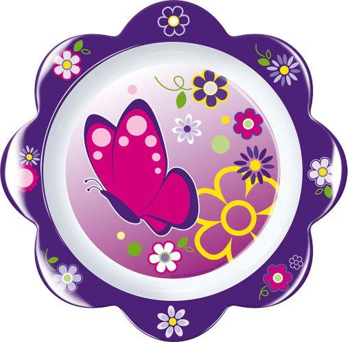 Assiette avec motif de pétales de fleur Image de l'article