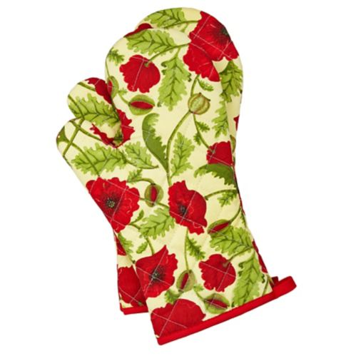 For Living Painted Poppy Oven Mitt, 2-pc Product image