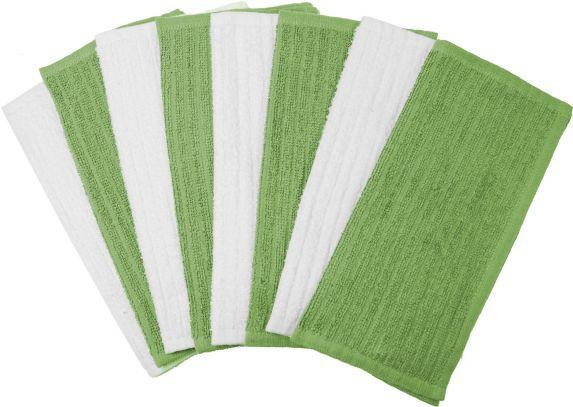 Serviettes de bar Cuisinart en tissu éponge, vert, paq.4 Image de l'article