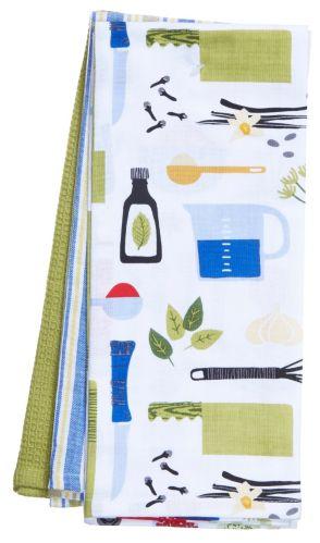For Living Spice Rack Tea Towel, 3-pc
