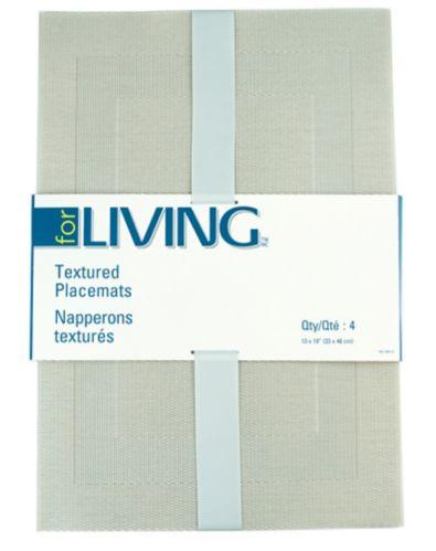 Napperons For Living en textilène, mélange gris, paq.4 Image de l'article