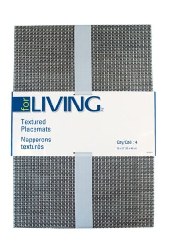 For Living Textiline Red Mix Placemat, 4-pk Product image