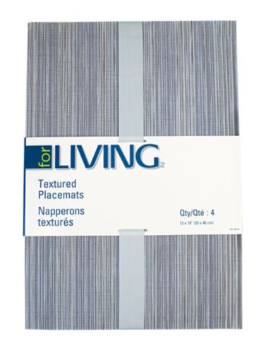 For Living Textiline Brown Mix Placemat, 4-pk Product image