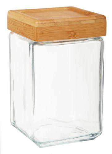 Square Bamboo Lid Jar, 1.5-qt Product image
