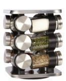 Porte-épices en acier inoxydable, 12pots | Oriinull