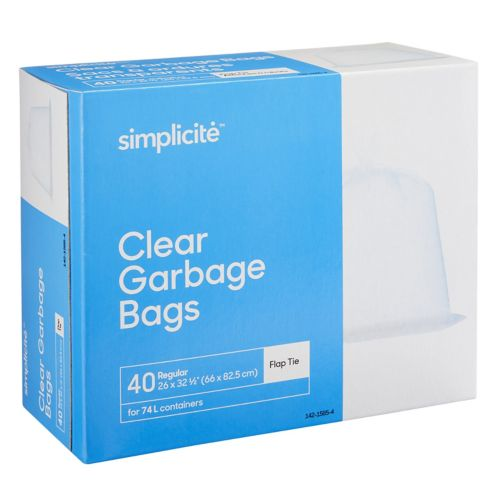 simplicité Clear Regular Garbage Bags Product image