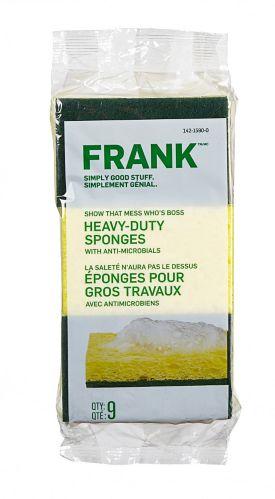 Éponges à récurer FRANK, paq. 9