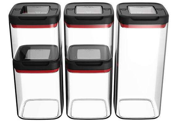 T-fal Plastic Canister Set, 5-pc Product image