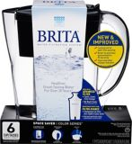 Brita Black Space Saver Pitcher, 6-Cup | Britanull