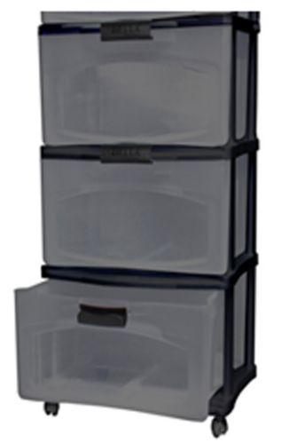 Bella 3-Drawer Storage Tower, Black Product image