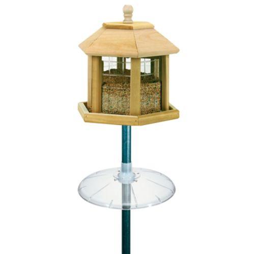 Grande mangeoire à oiseaux en forme de kiosque de jardin