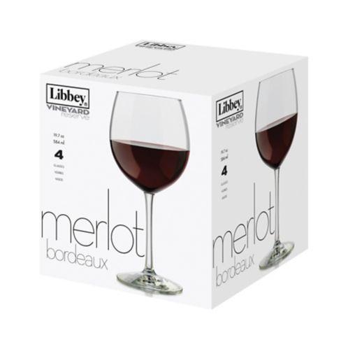 Libbey Vineyard Reserve Merlot Wine Glass, 4-pc Product image