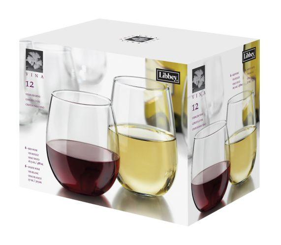 Verres à vin sans pied Libbey, paq. 12 Image de l'article