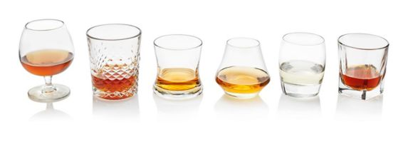 Libbey Whiskey Glasses, Assorted, 6-pc
