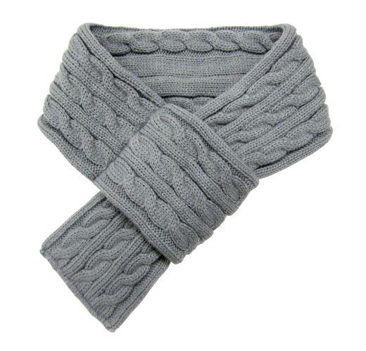 Foulard pour chiens à tricot câblé