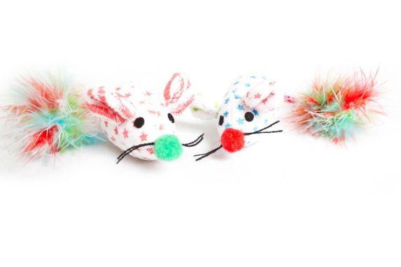 Souris Circus avec plume pour chats, paq. 2 Image de l'article