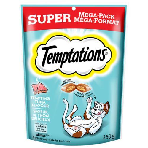 Gâteries Temptations Super méga-format, thon, chats, 350 g Image de l'article