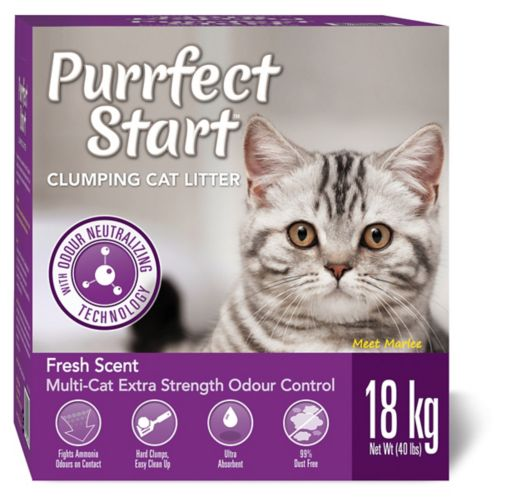 Purrfect Start Multi-Cat Clumping Litter, 18-kg Product image
