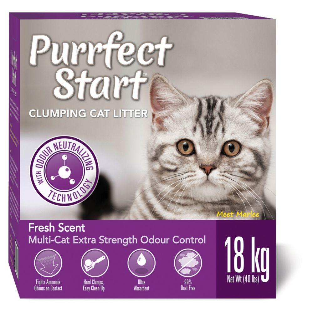 Purrfect Start Multi-Cat Clumping Litter, 18-kg
