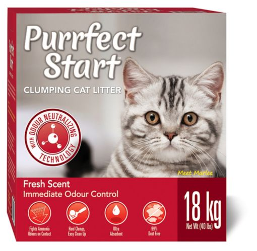 Purrfect Start Scented Clumping Litter, 18-kg Product image