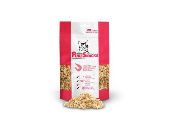Gâteries pour chats PureSnacks lyophilisées, crevette, 7 g Image de l'article