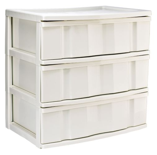 Gracious Living 3-Drawer Wide Tower