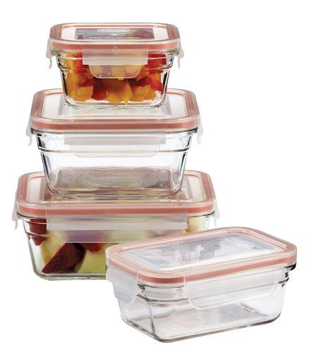 Contenants pour aliments Glasslock, 8 pces