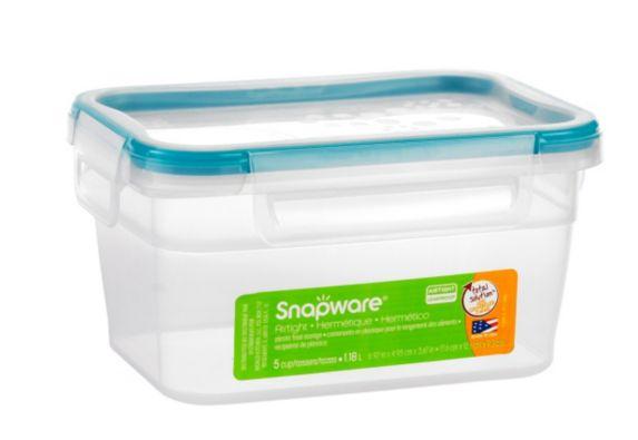 Contenant rectangulaire en plastique Snapware, 5 tasses Image de l'article