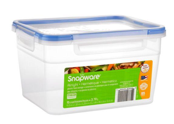 Contenant rectangulaire profond en plastique Snapware, 16 t Image de l'article
