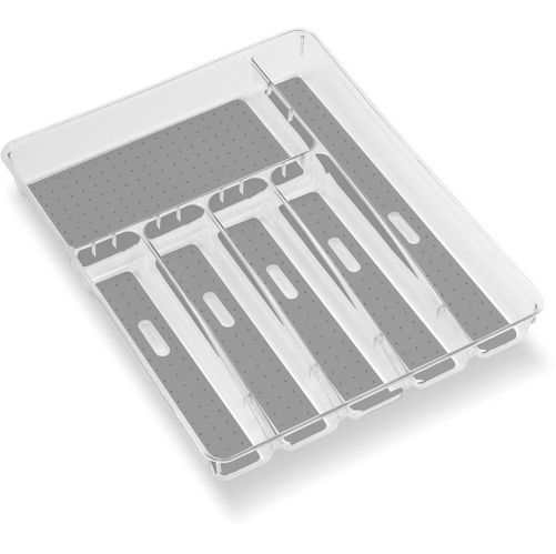 madesmart Large Silverware Tray, Clear