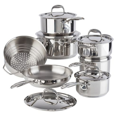 PADERNO Canadian Signature Stainless Steel Cookware Set, 13-pc Product image